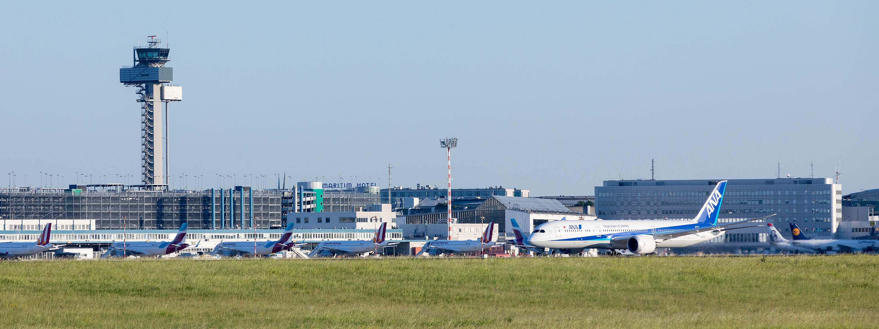 Panoramaansicht des Airports